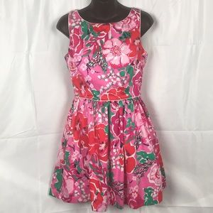 Lilly Pulitzer floral print 100% Cotton dress.